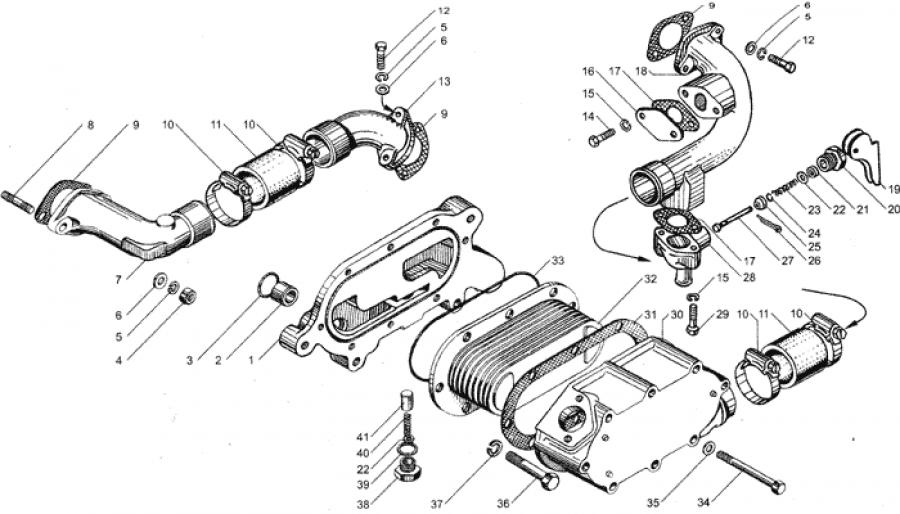 Теплообменник на мотор ямз площадь теплообменника бойлера расчет