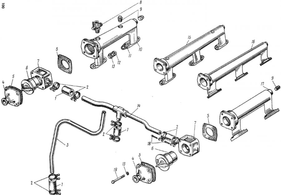 Система охлаждения двигателя ямз-238 схема