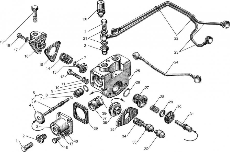 Управление механизмом переключения демультипликатора КП ЯМЗ-6581.10